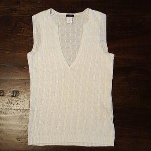 J. Crew Linen Sleeveless Sweater